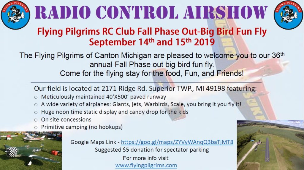 Fall Phase Out-Big Bird Fun Fly